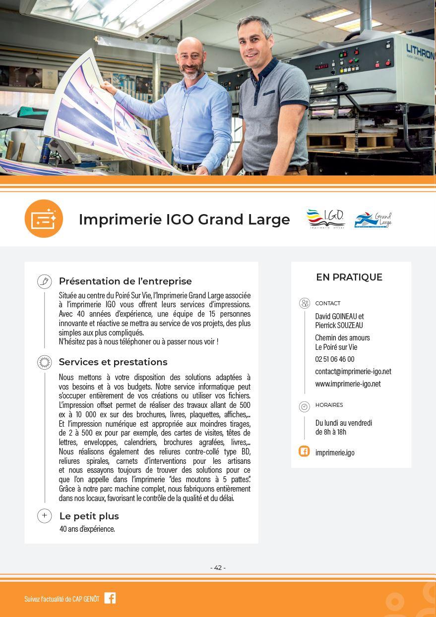 Imprimerie IGO et Grand large