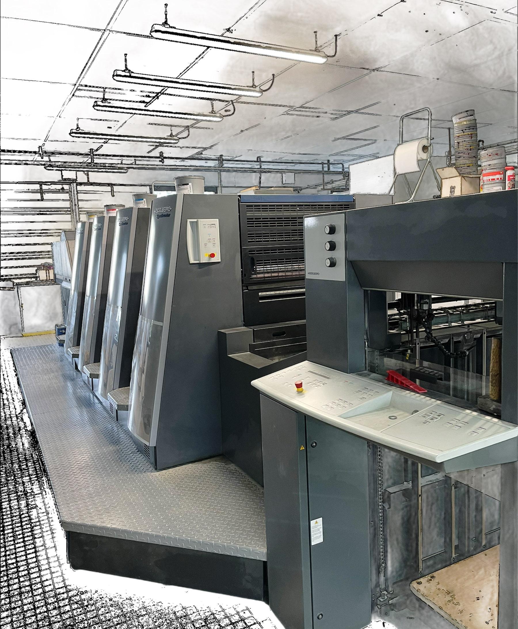Impression offset parc machine